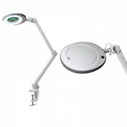 Лампа-лупа LED (48 светодиодов 8 диоптрии) кронштейн серый ободок